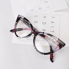 Aliexpress.com: Comprar Ojo de Gato de la vendimia gafas de Diseñador de la Marca Mujeres de Tendencias de La Moda Gafas Clásicas marco grado hembra de Leopardo Floral gafas B014 de gafas de moda fiable proveedores en Twinkling Jewelry