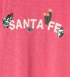 """Santa Fe"" cactus T-shirt Graphic Prints, Graphic Tees, T Shirt Logo Design, Cactus, Clothing Tags, Vintage Tees, Ss16, Shirts For Girls, Kids And Parenting"