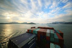Departing Hong Kong on a container ship. See you in LA in 2 weeks.