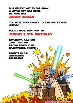 Lego Star Wars Invitation for the Boys http://printableinvitationkits.com/lego-starwars-birthday-invitation/