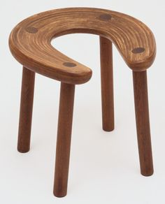 Antti Nurmesniemi; Laminated Birch and Teak Sauna Stool for G. Soderstrom, 1952.