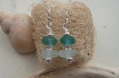 Turquoise & White Sea Glass Sterling Silver by SeahamWaves on Etsy, £15.00