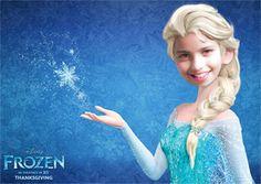 Fotomontaje Frozen Elsa.