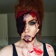 Scary Ripped Face