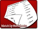 Make your own Match-up Worksheets! This generator will ask for 2 lists of word or word/sentence combination. After entering the list, we wil...
