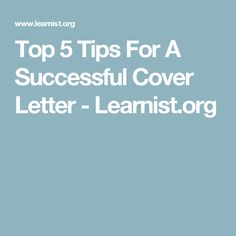 You Can Use This Cover Letter Example For Your Job Application To