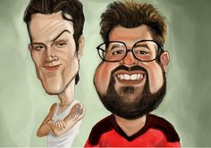 Professional Hand Drawn Colour Custom Caricature - Personalised Gift - Caricature From Your Photo - Custom Birthday / Anniversary Gift