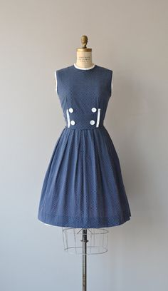 Skiptomyloo dress vintage 1950s dress swiss dot by DearGolden
