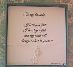 For My Daughter Necklace To From Mom By Soblesseddesigns