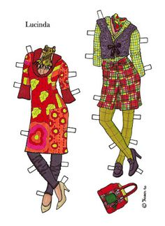 Karen`s Paper Dolls: Lucinda 1-4 Paper Doll in colours. Lucinda 1-4…