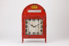 Relógio Cabine Telefónica Vermelha | A Loja do Gato Preto | #alojadogatopreto | #shoponline | referência 123666281