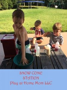 A few months ago, I shared a picture of our snow cone station. Our SNOW CONE MACHINE has been a huge hit this spring, and will likely continue to draw in a Child And Child, My Children, Snow Cone Machine, Snow Cones, My Little Baby, Outdoor Play, Summer Fun, Activities For Kids, Preschool