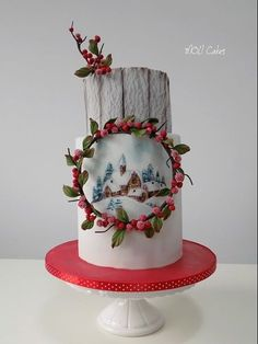 ❄☃ Christmas Cakes Cookies Cupcakes Sweets ☃❄ Winter is coming Christmas Cupcake Cake, Christmas Cake Decorations, Holiday Cakes, Beautiful Cakes, Amazing Cakes, Pretty Cakes, Cute Cakes, Noel Christmas, Christmas Treats