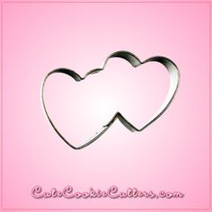 Mini Double Heart Cookie Cutter by Cheap Cookie Cutters #valentinesday