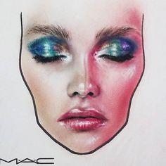 A bit of #kaleidoscope going on here #maccosmetics #maccosmeticsromania #macfacechart #facechart