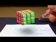 Comment dessiner un Rubik's cube 3D qui vole :'D Petite technique [Tutoriel] de dessin d'illusion d'optique : Anamorphose Instagram : http://www.instagram.co...