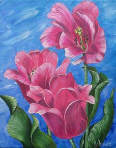 """""""Pink Tulips"""" Artist Jill Alexander www.jillalexander.ca"""