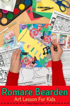 Looking for an engaging Romare Bearden collage project to teach the Harlem Renaissance and jazz music? Inspire your students with a mixed media art lesson! Art Games For Kids, Art Lessons For Kids, Music Lessons, Art Sub Plans, Art Lesson Plans, Harlem Renaissance, Jazz Music, Game Art, Romare Bearden