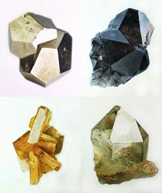 these are paintings of minerals - not the real thing - unbelievable! Crystals Minerals, Rocks And Minerals, Crystals And Gemstones, Stones And Crystals, Mineralogy, Crystal Magic, Rocks And Gems, Geometric Shapes, Illustration Art