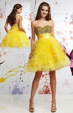 Modest Zipper Strapless Short Baby Doll Tulle Sweet 16 Dress