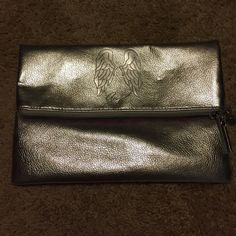 Victoria's Secret silver angel clutch Great condition! Used once Victoria's Secret Bags