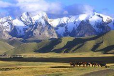 Kirgizie De hoge bergen, diepe ravijnen, gletsjers en meer natuurschoon