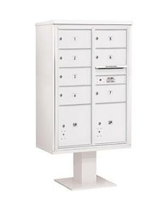 4C Pedestal Mailbox (Includes 13 Inch High Pedestal and Master Commercial Locks) - 13 Door High Unit (63-1/4 Inches) - Double Column - 7 MB2 Doors / 2 PL5 - White by Salsbury Industries. $1255.46. 4C Pedestal Mailbox (Includes 13 Inch High Pedestal and Master Commercial Locks) - 13 Door High Unit (63-1/4 Inches) - Double Column - 7 MB2 Doors / 2 PL5 - White - Salsbury Industries - 820996455130