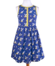 This Blue Starboard Summerfest Sleeveless Dress is perfect! #zulilyfinds