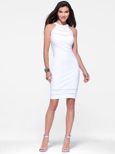 WEEKEND SEXY | White Halter Dress | Caché