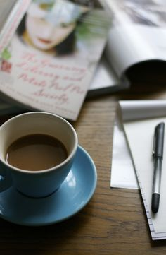 coffee, letters and a delightful novel