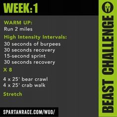 Spartan WOD Challenge: Week 1 - Beast Mode 1.1 - SPARTAN RACE™ Blog