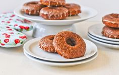 Sweet Potato Oatmeal Brulee Donuts. It has oatmeal in it so it's kind of healthy ... right?