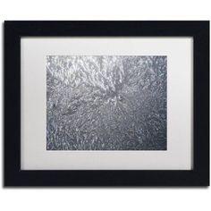 Trademark Fine Art Sunlight Frost Abstract Canvas Art by Kurt Shaffer White Mat, Black Frame, Size: 11 x 14