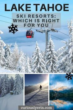 Are you wondering what the best Lake Tahoe ski resort is for your upcoming winter vacation? This guide breaks down the pros and cons of the top 13 ski resorts. Lake Tahoe Winter, South Lake Tahoe, Tahoe Ski Resorts, Tahoe City, Winter Travel, Tahoe California, California Ski Resorts, California Travel, Southern California