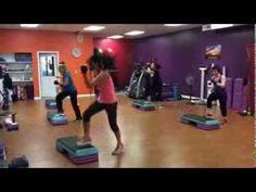Kickboxing & Step Aerobics Class - Part 2 - Yvette Bachman - YouTube
