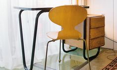 Pierre Paulin desk and Eames chair