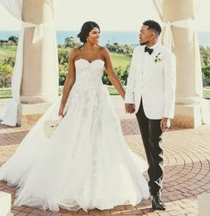 Chance The Rapper And Kirsten Corley Wedding Pictures with Chance the Rapper Wedding - Party Supplies Ideas<br> Celebrity Couples, Celebrity Pictures, Celebrity Costumes, Brunch Wedding, Wedding Decor, Chance The Rapper, Strapless Gown, Fancy, Couple Halloween Costumes