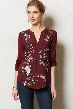Chinoiserie Embroidered Henley