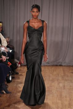 A model walks the runway at the Zac Posen fashion show during New York Fashion Week on Feb. 10, 2014.