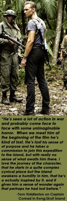 Tom Hiddleston on Captain James Conrad in Kong:Skull Island http://maryxglz.tumblr.com/post/159187744647/the-haven-of-fiction-hes-seen-a-lot-of-action