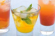 Iced apple and tea and mint iced tea