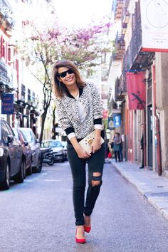 loud-prints:  Bomber Jacket  We are loving this look, perfect for the end of summer!