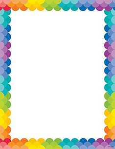 Creative Teaching Press Painted Palette Rainbow Scallops Printer Paper (1987) Frame Border Design, Boarder Designs, Page Borders Design, Boarders And Frames, Borders For Paper, Doodle Borders, Creative Teaching Press, Scrapbook Frames, Kids Background