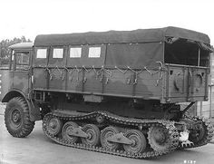 "dieselfutures: ""British Half Tracks First image - AEC Matador Second image - AEC Matador Third image - Austin Fourth image - Bedford "" Old Pickup Trucks, Lifted Ford Trucks, Jeep Truck, Army Vehicles, Armored Vehicles, 4x4, Old Lorries, British Armed Forces, Heavy Truck"