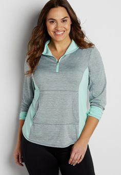plus size ultra soft quarter zip pullover