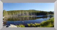 "Luminous Virtual Window 63""x34"" Shoshone National Forest, Frye Lake, View on Wind River Peak, Wyoming"