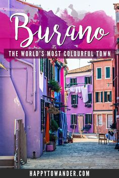 The colours of this place are unreal! Here's a full guide to visiting the magical town of Burano, just 40 minutes away from Venice. #Italy