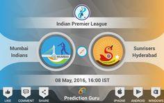 Who will win today #MumbaiIndians or #SunrisersHyderabad ? Predict at http://pgur.in/6sgxay #MIvSRH #ipl2016