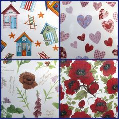Your place to buy and sell all things handmade Patchwork Heart, Water Slides, Fused Glass, Wild Flowers, Poppies, Glass Art, Craft Supplies, Decals, My Etsy Shop