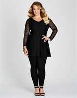 LACE FRONT TUNIC